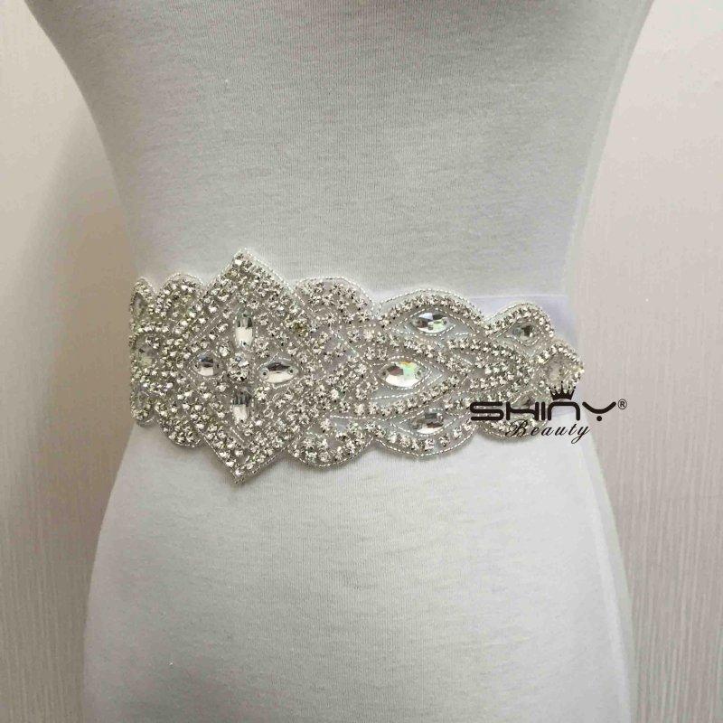 Crystals Rhinestone Wedding Sash, Applique Bridal Rhinestone Belt ...