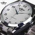 2017 homens Relógios Top Marca de Luxo Homens Mecânico Automático Strap Negócios Vestido Relógio de Aço Inoxidável relógios de Pulso Reloj Cloc