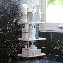 Mensola del bagno di Stoccaggio Cremagliera Cremagliera di Esposizione Del Basamento Ripiani Cosmetici Shampoo Supporto Doccia Caddy Bagno Organizer Multi-strato