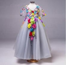 Платье принцессы с цветами для маленьких девочек, летние платья для девочек, повседневная школьная одежда для малышей, платье для девочек, одежда для девочек