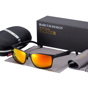 Image 5 - BARCUR 알루미늄 편광 선글라스 남자 편광 된 태양 안경 광장 고글 안경 Gafas oculos de sol masculino