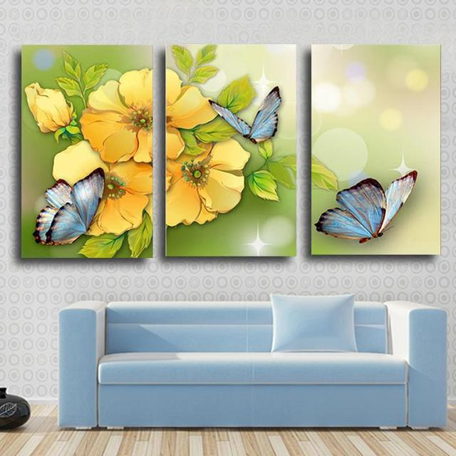 Delighted Butterfly Canvas Wall Art Images - Wall Art Design ...