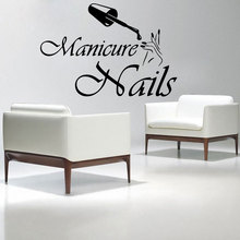 Vinyl Wall Decal Fashion Nails Salon Wall Stickers Interior Manicure Home Decor MLY07