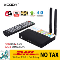 DHL Delivery NO TAX CAS93 Smart TV Box Android 7.1 Nougat S912 Octa Core DDR4 3G RAM 32G ROM Bluetooth 4.0 Netflix Youtube IPTV