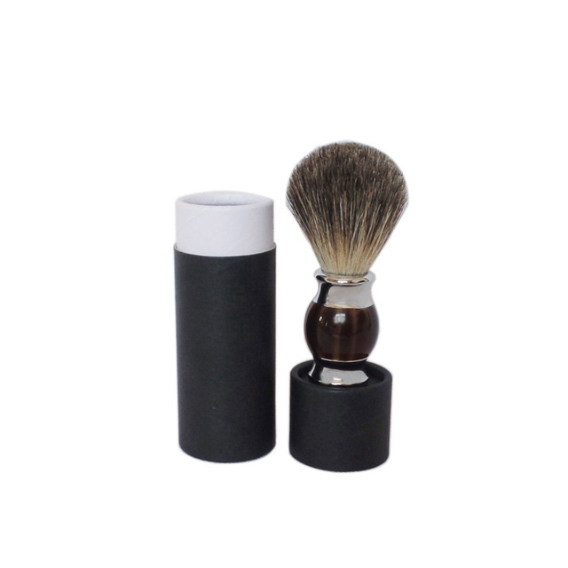 2pc/set Man Beard Shaving Brush Barber Salon Tool with Case Cardbord Tube Paper Cylinder
