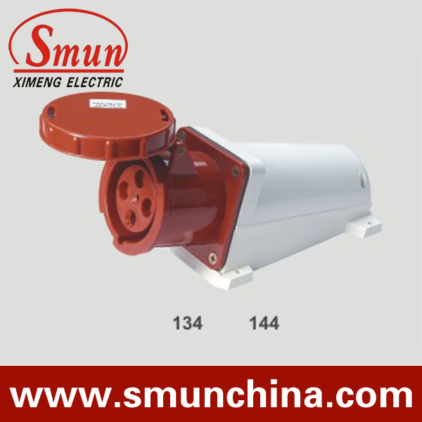 63A 380-415V 3P+E industrial socket 4pins female plug with CE ROHS 1 year warranty ac 380 415v 16a red white waterproof 3p e iec309 2 socket for industrial