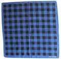 Envío gratis 2016 nuevos de moda 100% algodón azul a cuadros negro Bandana para mujeres hombres