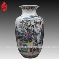 Jingdezhen ceramic powder caici vase bottle gourd Large 12 nobile decoration ceramic crafts