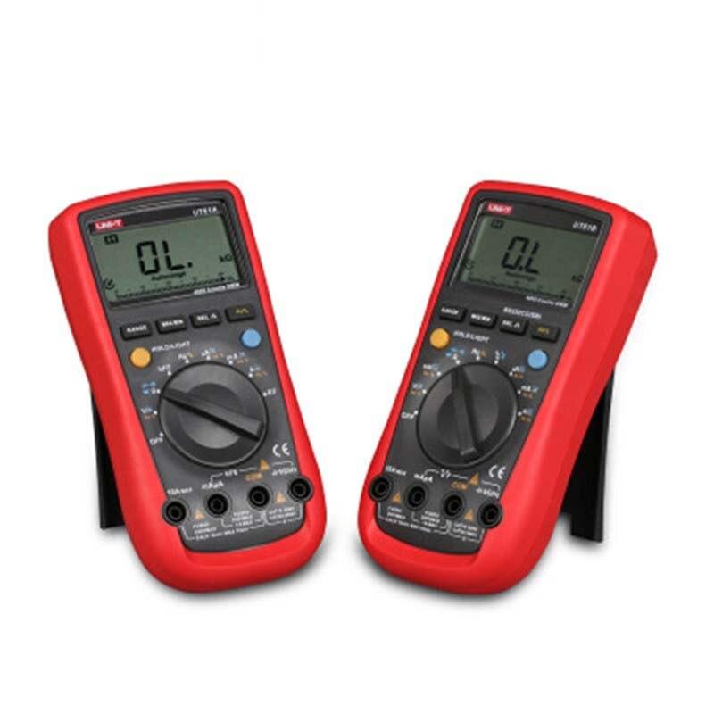 UNI-T UT61A UT61B UT61C UT61D UT61E multimètre numérique véritable rms gamme automatique ampèremètre AC/DC multimètre LCD backligh