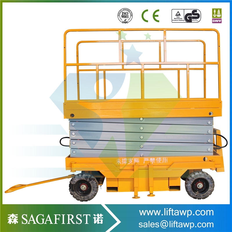 China 2018 Full-Electric Hydraulic Scissor Lift  With Battery For Hot Sales With CE Good Quality