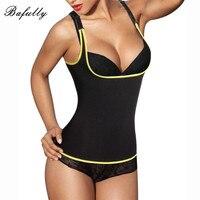 Adjustable Strap Body Shape Women Tops Waist Trainer Sweat Vest Fitness Fat Burning Slimming Shapewear Corset Neoprene Plus Size