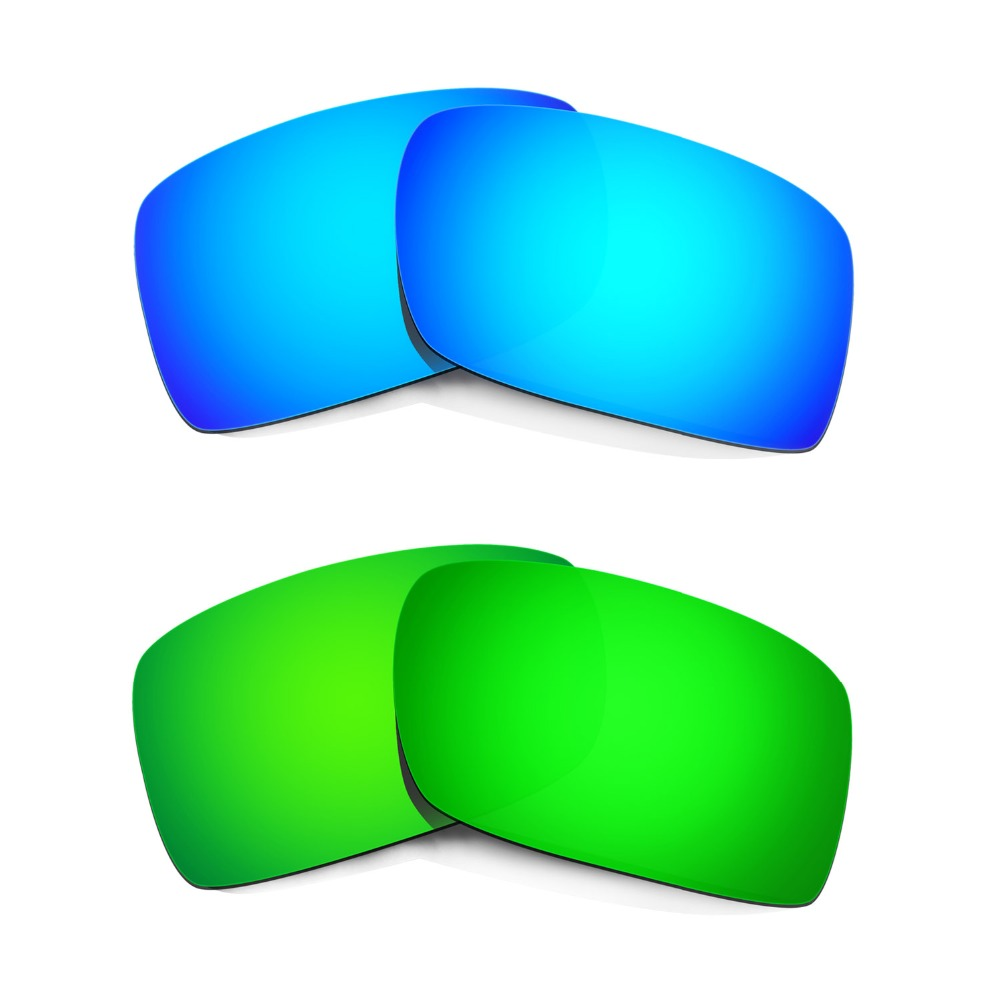 HKUCO For  Gascan Sunglasses Polarized Replacement Lenses Blue/Green 2 Pairs