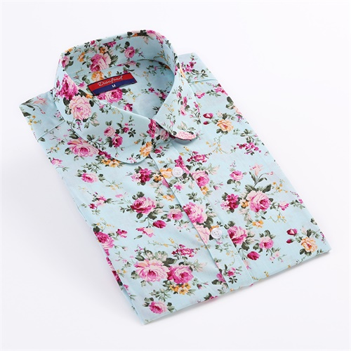 Dioufond Vintage   Blouses   Women Print   Shirts   Long Sleeve Cotton Tops Ladies Floral Blusas Plus Size 5XL Fashion Female Clothing