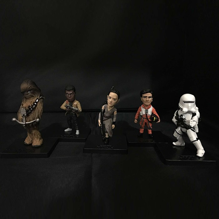 Free Shipping 5pcs Star Wars Solid Set 1st Ver. Bag Pack PVC Action Figure Collection Model Dolls Toy Gift (5pcs per set)