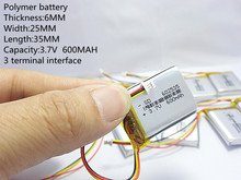 The видеорегистратор Mio MiVue 388 Емкость 600 МАЧ модель 582535 602535 P полимера thium батареи 3 линии