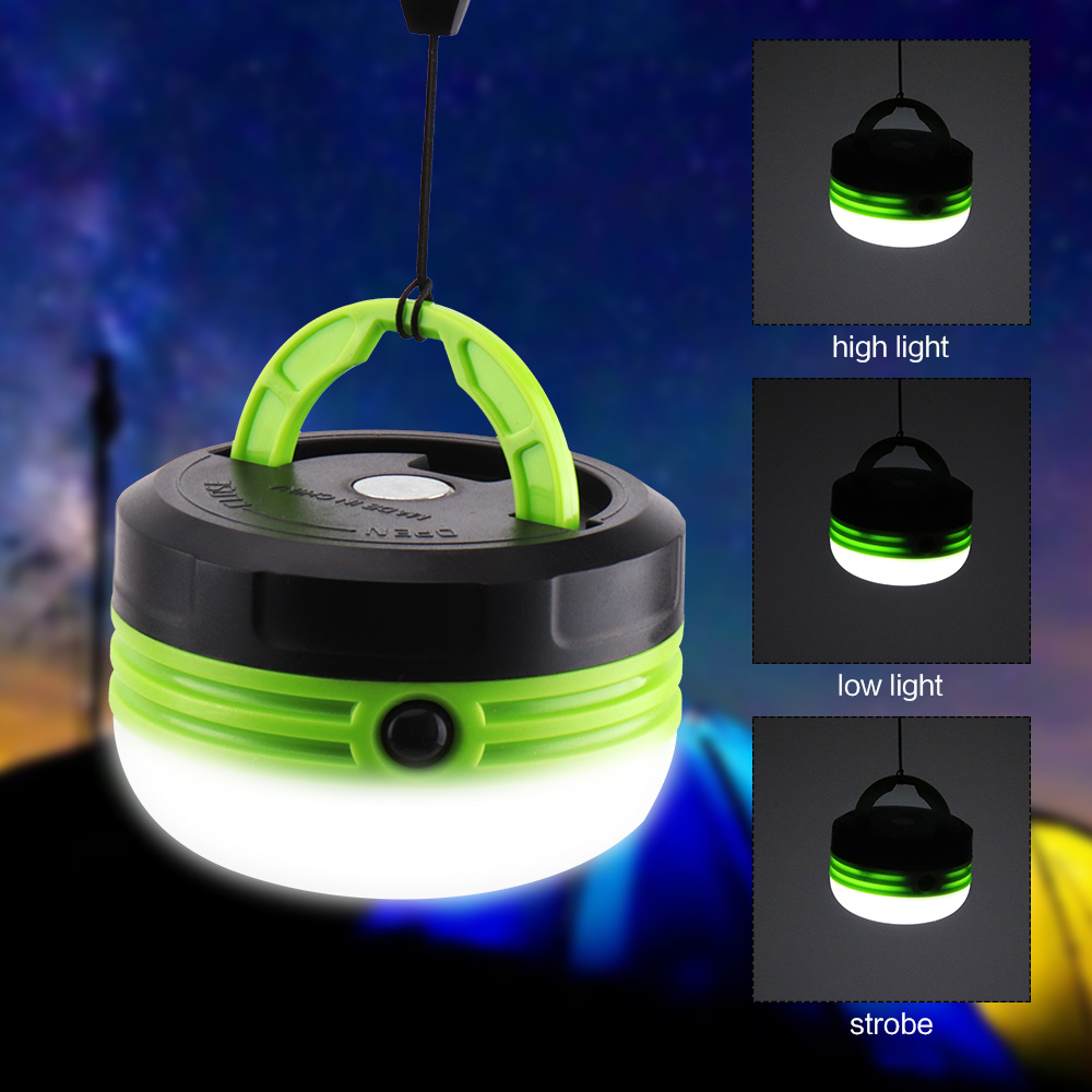 BORUiT Portable LED Lantern 3 Modes Magnetic Flashlight Torch Light Hanging Tent Light Waterproof Outdoor Camping Fishing Lamp