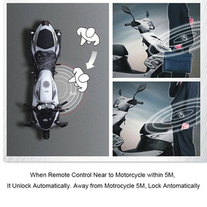 Image 5 - PKE 2 Two Way Motorcycle Anti theft Alarm System Remote Engine Start Moto Scooter PKE Sensing Alarm Theft Protection Universal