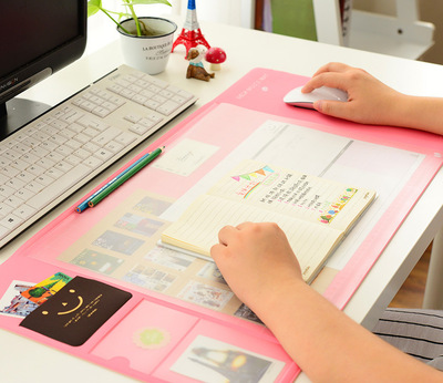 Detail Feedback Questions About Student Candy Color Desk Pad Cute Desktop Decorations And Accessories Computer Pvc Waterproof Tableware Mat On