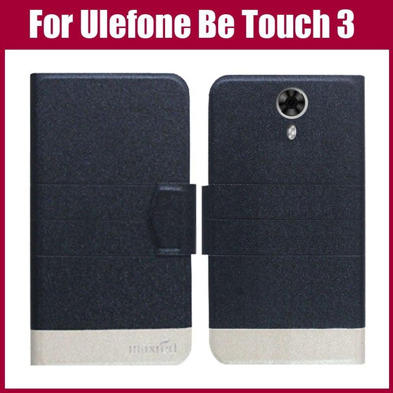 Žhavá sleva! Nový příchod 5 barev módní flip ultra tenký kožený ochranný kryt pro Ulefone Be Touch 3 případ