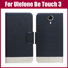 Hot Sale! New Arrival 5 Colors Fashion Flip Ultra-thin Leather Protective Cover For Ulefone Be Touch 3 Case