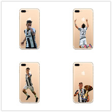 juventus Star Paulo Dybala Soft Silicone TPU Cover for iPhone 7 7 Plus 6 6S Plus 5 5S SE Case Coque