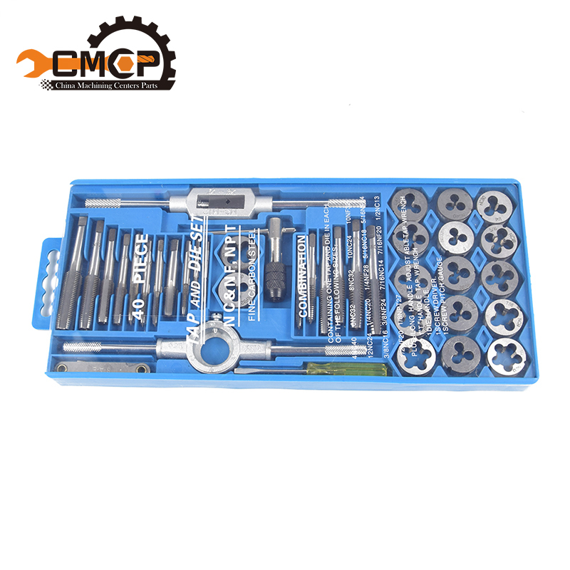 hand tools 40 pcs hand taps and die for metal working handle adjust able tap wrench