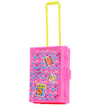 LeadingStar 3D Cute Kid Child Travel Train Suitcase Luggage Doll House Dress Gift Toys Dollhouse Furniture Doll Toy For Children(China)