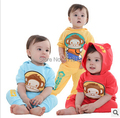 Free shipping Kids new summer short-sleeved monkey suit Hooded short-sleeved T-shirt + pants