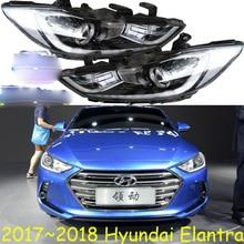 1 stücke HID, 2017 ~ 2018, Auto Styling, Elantra Scheinwerfer, Solaris, accent, Elantra, genesis, i10, i20, santa fe, lantra; Elantra kopf lampe