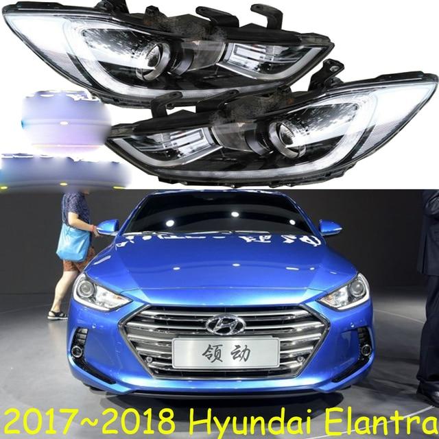 1 stuks HID, 2017 ~ 2018, Auto Styling, Elantra Koplamp, Solaris, accent, Elantra, genesis, i10, i20, santa fe, lantra; Elantra hoofd lamp