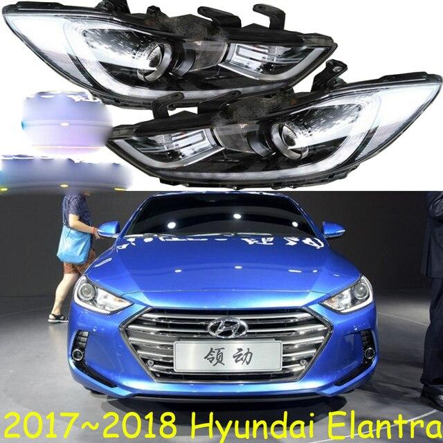1pcs HID,2017~2018,Car Styling,Elantra Headlight,Solaris,accent,Elantra,Genesis,i10,i20,santa fe,lantra;Elantra head lamp