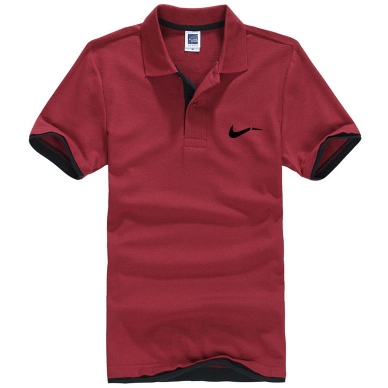 New men's polo shirts high-quality cotton short-sleeved shirts breathable solid polo shirts summer casual business men's wear 16