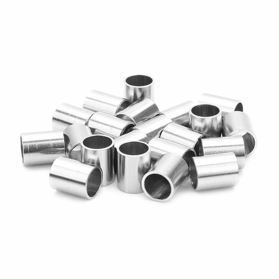Ckysee 10 sztuk/partia srebrny Tone wysoki połysk rura metalowa Spacer koraliki 6x7.5mm ze stali nierdzewnej puste koraliki dla Diy two...
