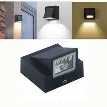 Светодиодный настенный светильник с одной головкой, водонепроницаемый IP65, светильник для сада, коридора, наружный, внутренний, бра, светильник, AC85-265V