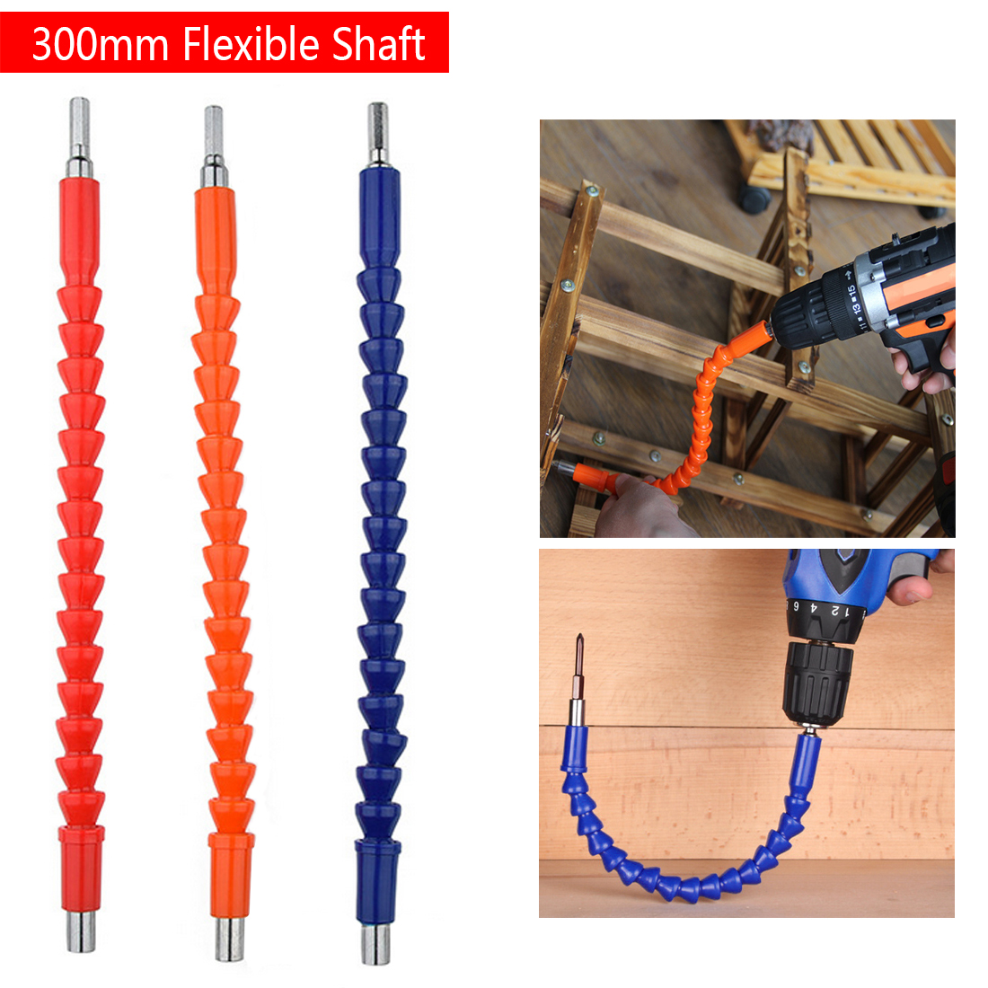 305mm 6.35 Mm Flexible Shaft For Electric Drill Electric Hand Screwdriver Bit Extension Wand Hose Connection Soft Shaft