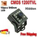 1200 LÍNEAS de TV Cámara de Color CMOS de Visión Nocturna de seguridad CCTV mini ir cámara de Interior del CCTV Mini PIR Estilo 3.7mm Len Vigilancia cámara