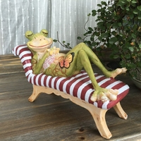 Courtyard Ornament Outdoor Frog Figurine Resin Animal Garden Decoration