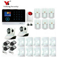 YobangSecurity WIFI Wireless 3G WCDMA GPRS Alarm System With Free APP For Remote Video Monitor IP