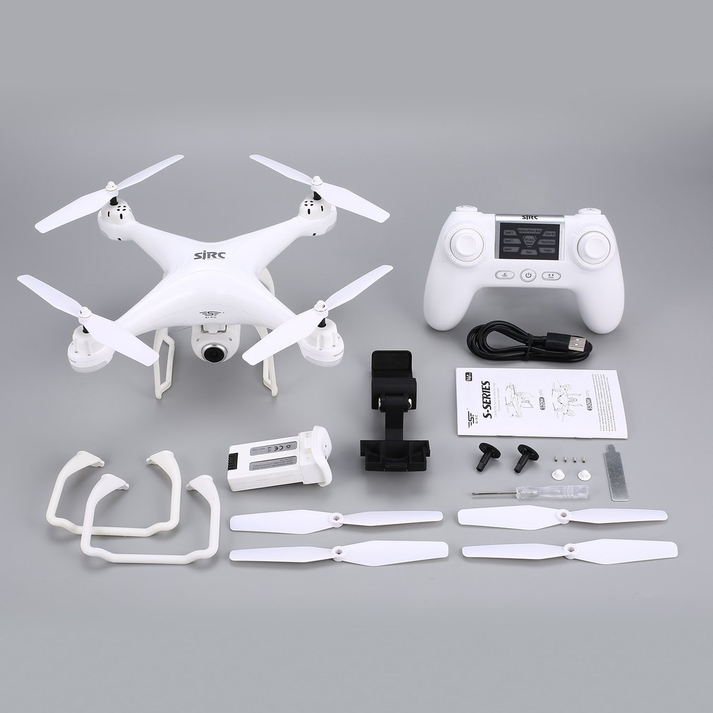 SJ R/C/S20W RC drone con FPV 1080 p Cámara Selfie de altitud modo sin cabeza, retorno automático de despegue /aterrizaje GPSRC Quadcopter