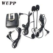 WUPP motosiklet Walkie Talkie kask interkom şarkı interkom kulaklık ile iki toz fişler için Motor seyahat telefona cevap olabili...
