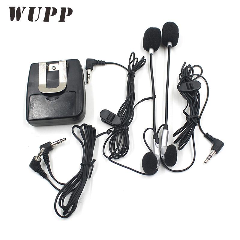 WUPP Motorcycle Walkie Talkie Helmet Intercom Song Interphone Headset With Two Dust Plugs For Motor Travel Can Answer The Phone
