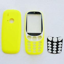 ZUGZUC New Full Complete Housing Cover For Nokia 3310 Full Housing Back Case + Face Frame + Keyboard