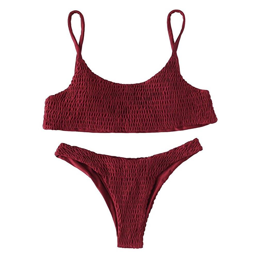 Swimsuit women Swimsuit bikini 2019 Women Bandage Push-up Padded Bra Bikini Set Swimsuit Swimwear Bathing female swimsuit fused-2