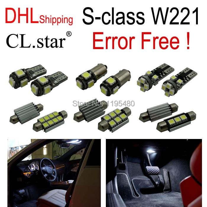 26pcs LED lamp Interior Reading Light full Kit For Mercedes Benz S class W221 S500 S550