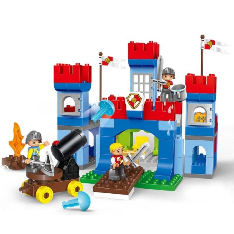 138 pièces jouets pour enfants mini ville Pirate et série de guerre grands blocs de construction compatibles légorate Duplo jouets sur 3 ans ABS