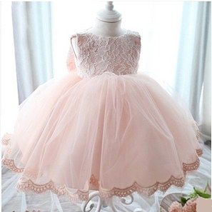 Pink baby flower girl dresses for weddings party formal gowns ...