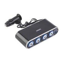 2016 4 Way Multi Гнездо Автомобильное Зарядное Устройство Автомобиля Авто Сигареты Автомобиля Прикуривателя Splitter и Порты USB Plug Адаптер 12 В 24 В Новый