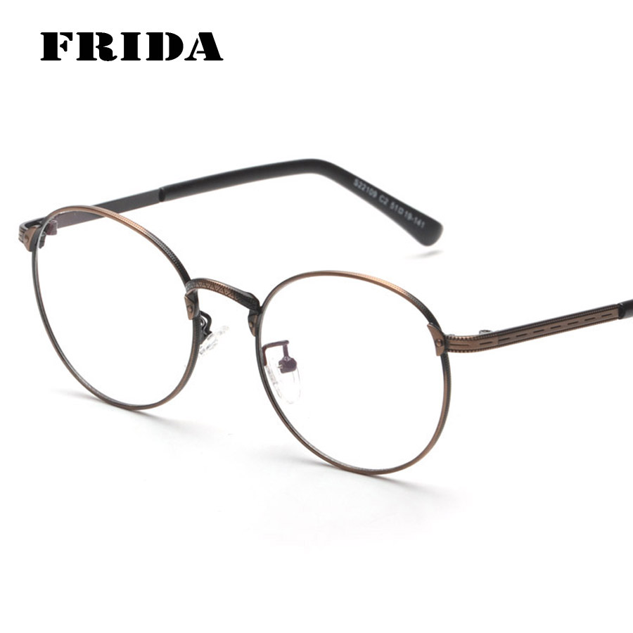 ec9af66be24 2016 New Fashion Metal Gold Retro Round Eyeglasses Women Man Glasses  Optical Computer Glasses Plain glasses Lunettes de vue-in Eyewear Frames  from Apparel ...