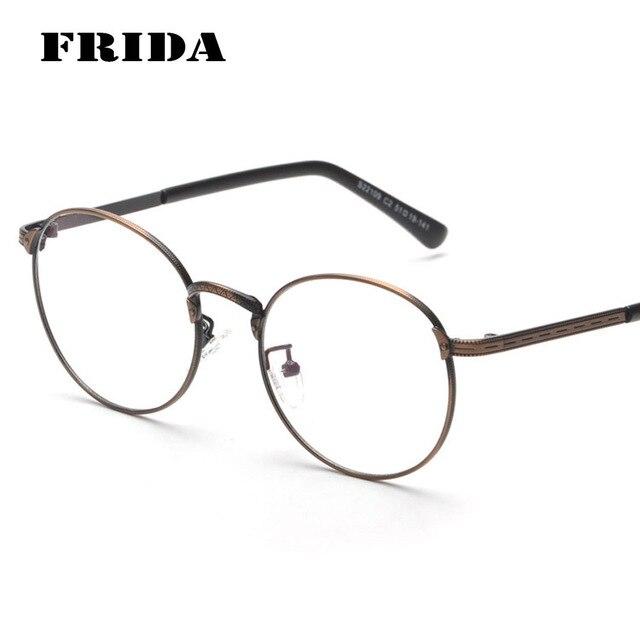 20ca4334576 2016 New Fashion Metal Gold Retro Round Eyeglasses Women Man Glasses  Optical Computer Glasses Plain glasses
