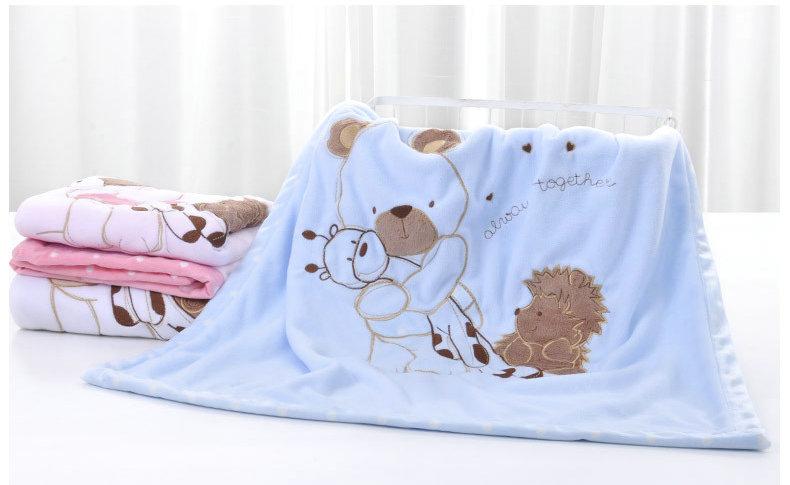 NEW Genuine Baby Blanket Baby Swaddle 75*75CM Wrap Newborn Super Soft Kids Bedding Diaper AKX15